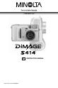 Preview Page 1 | Minolta DiMAGE S414 Camcorder, Digital Camera Manual
