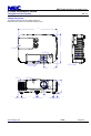 NEC NP-P350W Projector Manual, Page 3