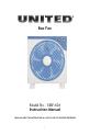 Page #1 of UNITED UBF-626 Manual