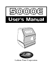 Lathem 5000E Operation & User's Manual 23 pages