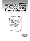 Lathem 7500E Operation & User's Manual 50 pages