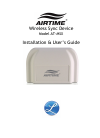 Lathem AirTime AT-MSX Installation & User Manual 7 pages