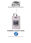 Lathem AirTime ATX6 Installation & User Manual 31 pages