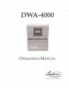Lathem DWA-4000 Operation Manual 20 pages
