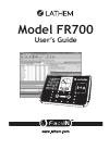 Lathem FR700 Operation & User's Manual 105 pages