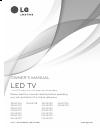 LG 32LN5700 Owner's manual
