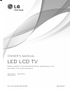 LG 42LM3400 Owner's manual