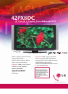 LG 42PX8DC Specifications
