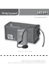 LightSpeed Technologies LES-391 Operation & User's Manual 8 pages