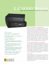Logic Controls LC8000 Features 1 pages