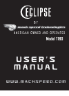 Mach T180 Operation & User's Manual 24 pages