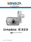 Minolta DIMAGE E323 - SOFTWARE