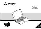 Mitsubishi Electric Pedion Laptop Owner's Handbook Manual 85 pages