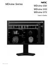 NEC MDview 232 Operation & User's Manual 35 pages