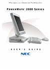 NEC PowerMate 2000 Series Operation & User's Manual 137 pages