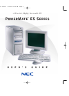 NEC POWERMATE ES Series Operation & User's Manual 167 pages