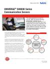 NEC SV-8100 Information Sheet 2 pages
