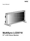 NEC LCD5710-2-AV - MultiSync - 57