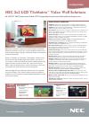 NEC X462UN-TMX4D Specifications 3 pages