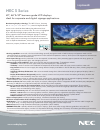 NEC S401 Brochure 2 pages