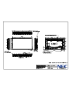 NEC X461UNV Dimensional Drawing 1 pages