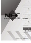 NEC NHD-3000PVR Operation & User's Manual 63 pages