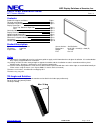 NEC P60XP10-BK Installation Manual 10 pages
