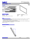 NEC PX60XR5A - PlasmaSync - 60