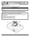 NEC LT30 - XGA DLP Projector Installation And Assembly Manual 7 pages