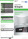 NEC HS3-40 Specification 2 pages