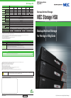 NEC HS8 Specification 4 pages
