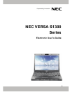 NEC S1300 Operation & User's Manual 91 pages