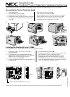 NEC 1800 Instructions 5 pages