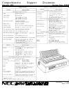 NEC Spinwriter 3500 Operation & User's Manual 14 pages