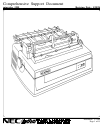NEC Spinwriter 5550 Operation & User's Manual 19 pages