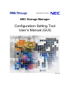NEC Storage Manager Operation & User's Manual 340 pages