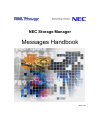 NEC Storage Manager Messages Handbook 710 pages
