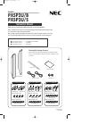 NEC PXSP2U Instruction Manual 10 pages
