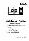 NEC FZ110A - Zip 100MB - 100 MB ZIP Drive Installation Manual 28 pages