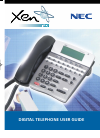 NEC XEN IPK DIGITAL TELEPHONE Manual 24 pages