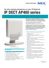 NEC AP400 series Features 4 pages