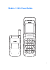 Nokia 3155 Operation & User's Manual 95 pages