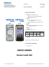 Nokia N70 Service Manual 18 pages