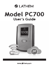 Lathem PC700 Operation & User's Manual 52 pages