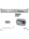 Hama RC300 Operating Instruction 16 pages