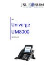 NEC Univerge UM8000 Manual 7 pages