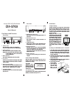 NEC DV-5700 Operation & User's Manual 2 pages