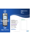 Nokia 1110 User Instructions 2 pages