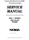 Nokia NSC-1 SERIES Service Manual 6 pages