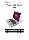 Packard Bell T19 Disassembly Manual 15 pages